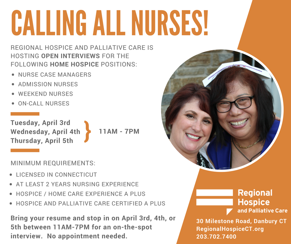 Open Interviews For Home Hospice Nurses