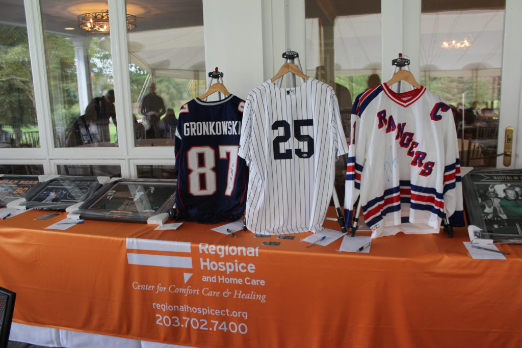 auctioned items for regional hospice golf tournament