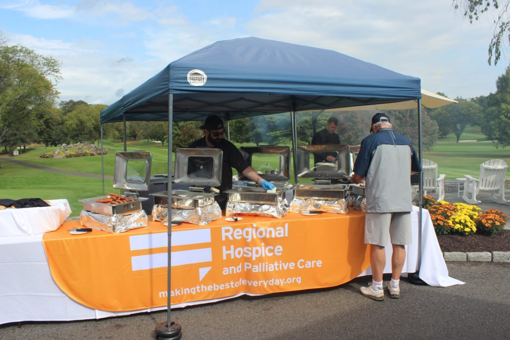 regional hospice chefs at golf tournament