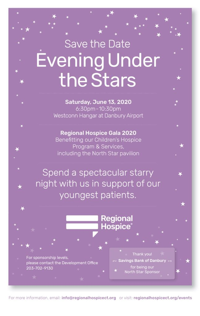 regional hospice save the date gala